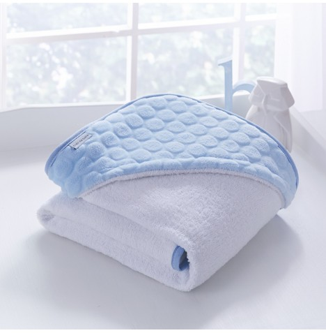 Clair De Lune Luxury Hooded Towel - Marshmallow Blue